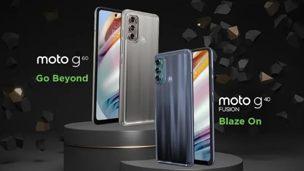 Teléfonos inteligentes Moto G60 y Moto G40