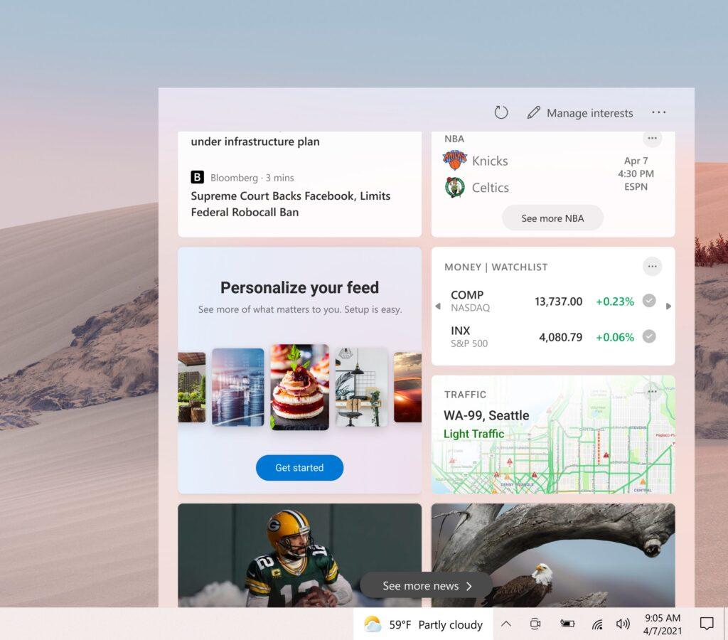 tualización de Windows 10 MEJORA EL FEED