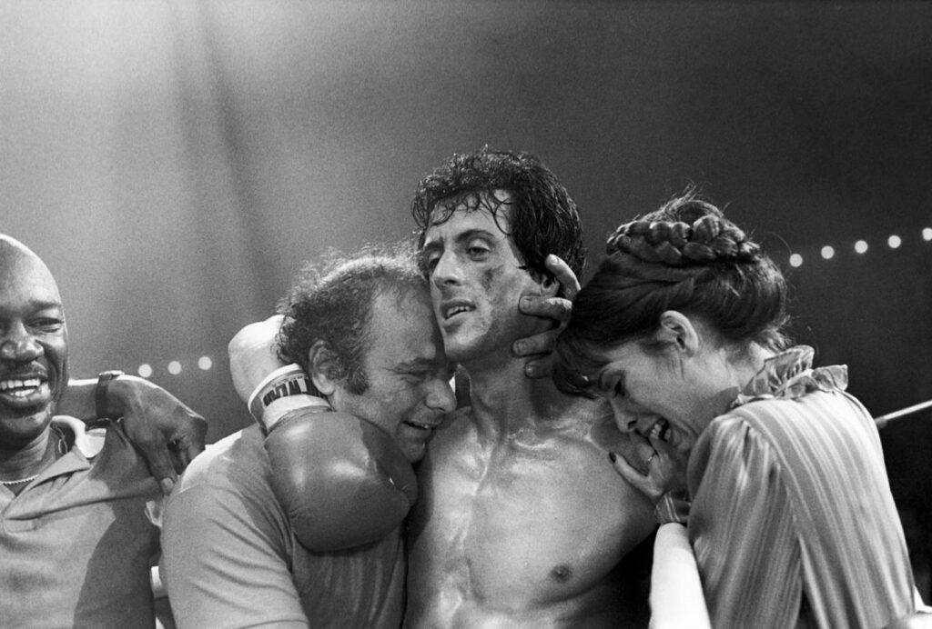 Rocky 3 festejando triunfo