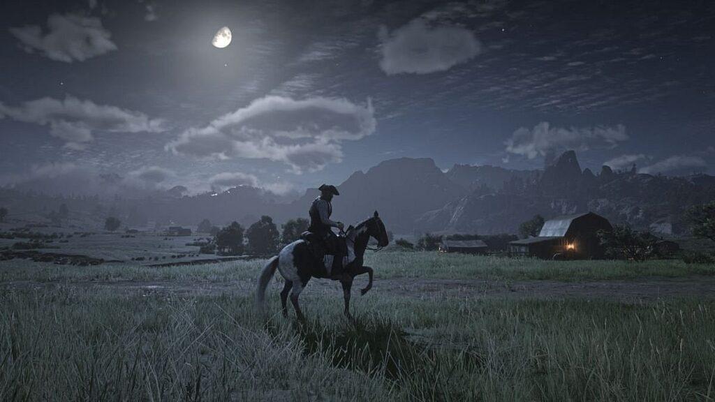 Noche en el juego Red dead redemption 2