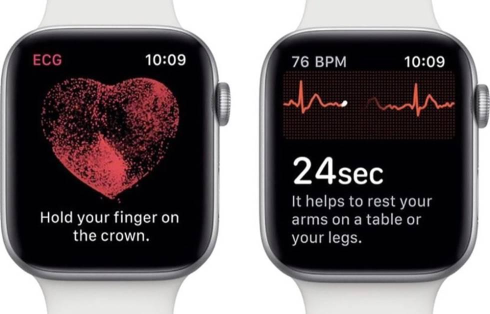 Apple Watch midiendo el ritmo cardíaco