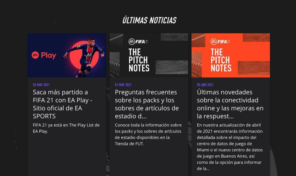 Noticias sobre FIFA 22